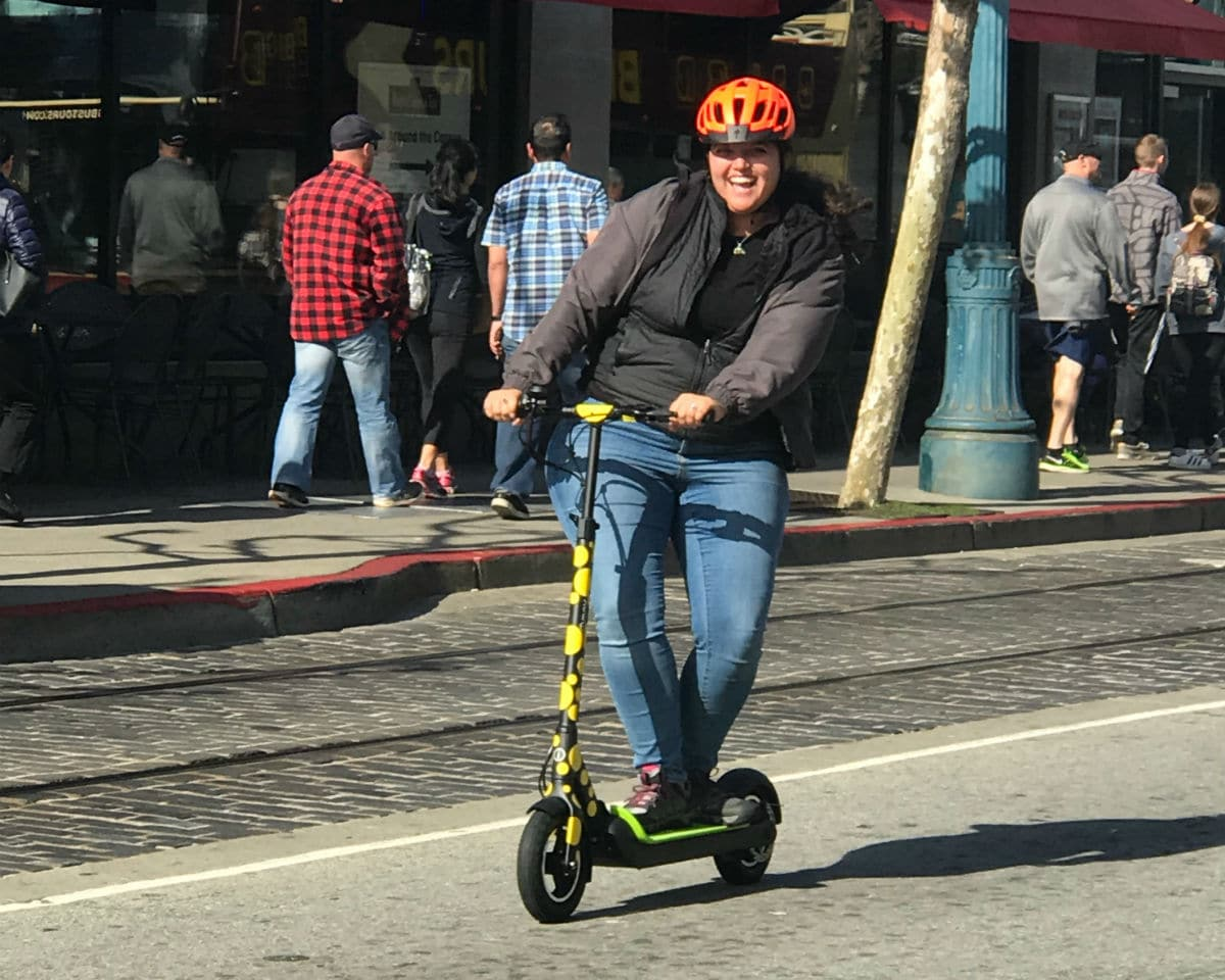 Testing our our new Imax electric scooters. Too much fun