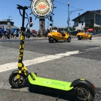 Imax and Eco-reco electric scooters are featured on our electric scooter to golden gate bridge tour