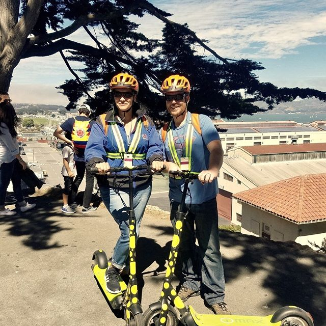 Do you have a DATE .... Want to impress them .... Schedule a Scooter, Segway or TukTuk TOUR!⁠ ⁠ See more of San Francisco than you can on foot!⁠ Our kick-butt scooters not only have more power than the average rental but when you ride one, you're also cruising to the Golden Gate Bridge in style.  Best of all, scooters are a blast to ride!⁠ Take off on our 2.5 Hour Electric Scooter Tour that wheels through Maritime Park and then out to the Marina Green through the Presidio on the way to the Golden Gate Bridge. Enjoy incredible views of San Francisco Bay, Golden Gate Bridge, and the city skyline.⁠ After a brief session on how to safely operate the electric scooter, you will explore San Francisco's Waterfront for approximately 2.5 hours. Tours are limited to 10 riders per tour guide.⁠ Numerous stops perfect for Instagram or Snapchat – so don't forget your smartphone. ⁠ ⁠ Call 415-474-3130 for reservation or book online https://electrictourompany.com/⁠ .⁠ .⁠ . ⁠  #sfholidays⁠
