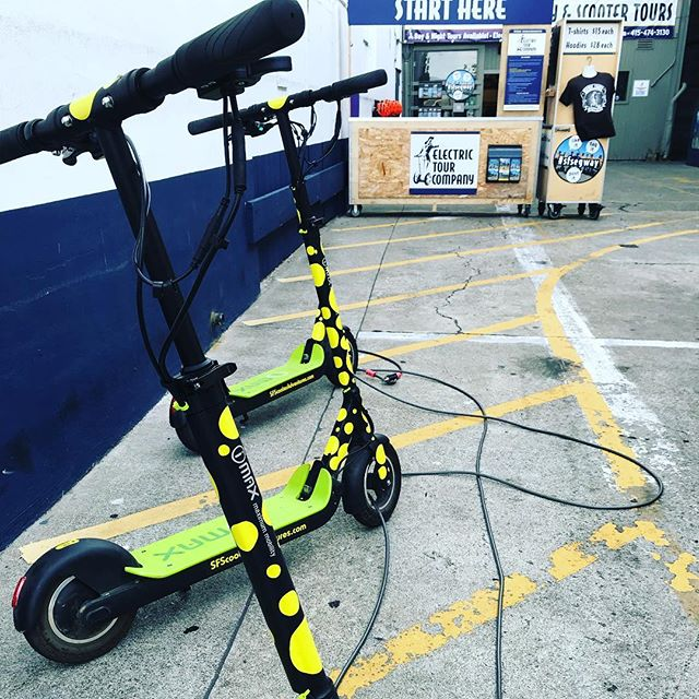 Free the scooters ! It's a beautiful day to explore the San Francisco waterfront to the Golden Gate Bridge. Get your scooter 🛴 fix with us! We don't do rentals but we do offer fully guided in on kick butt yep we are the and company during the . . . . . .