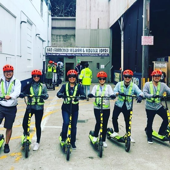 Get your group or team together for the newest scooter adventure in San Francisco. Your group will enjoy a beautiful day exploring the San Francisco waterfront from the Wharf to the Golden Gate Bridge. Get your scooter 🛴 fix with us! We offer fully guided and in on kick butt yep we are the and company during the . . . . . .