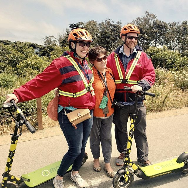 Have family in town for the holidays?  See more of San Francisco than you can on foot! Our kick-butt scooters not only have more power than the average rental but when you ride one, you're also cruising to the Golden Gate Bridge in style.  Best of all, scooters are a blast to ride! Take off on our 2.5 Hour Electric Scooter Tour that wheels through Maritime Park and then out to the Marina Green through the Presidio on the way to the Golden Gate Bridge. Enjoy incredible views of San Francisco Bay, Golden Gate Bridge, and the city skyline. After a brief session on how to safely operate the electric scooter, you will explore San Francisco's Waterfront for approximately 2.5 hours. Tours are limited to 10 riders per tour guide. Numerous stops perfect for Instagram or Snapchat – so don't forget your smartphone.   Call 415-474-3130 for reservation or book online https://electrictourompany.com/ . . .  # #sfholidays 
