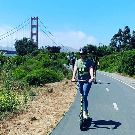 Weather is going to be nice this week. Today's scooter 🛴 tour destination is the world 🌎 famous Golden Gate Bridge!  Get out and enjoy the day in on one of our memorable #sfscootertour! In no time at all you will be taking in the beautiful views from the South end of the span. Fully guided tours start from and travel to the on our kick-butt electric scooter 🛴tours. 2.5 hours of riding fun with our entertaining tour guides. E-scooter 🛴 tours are also available at our location too! . . .  Book online Https://SFscooteradventures.com or call 415-474-3130 .